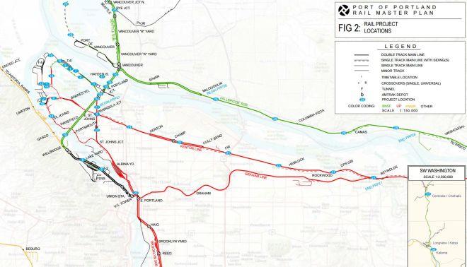 Columbia River Bridge Hayden Island - Columbia river map us